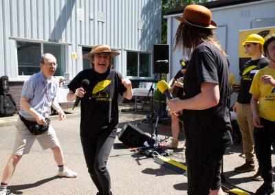 Electric Umbrella at Watford Workshop