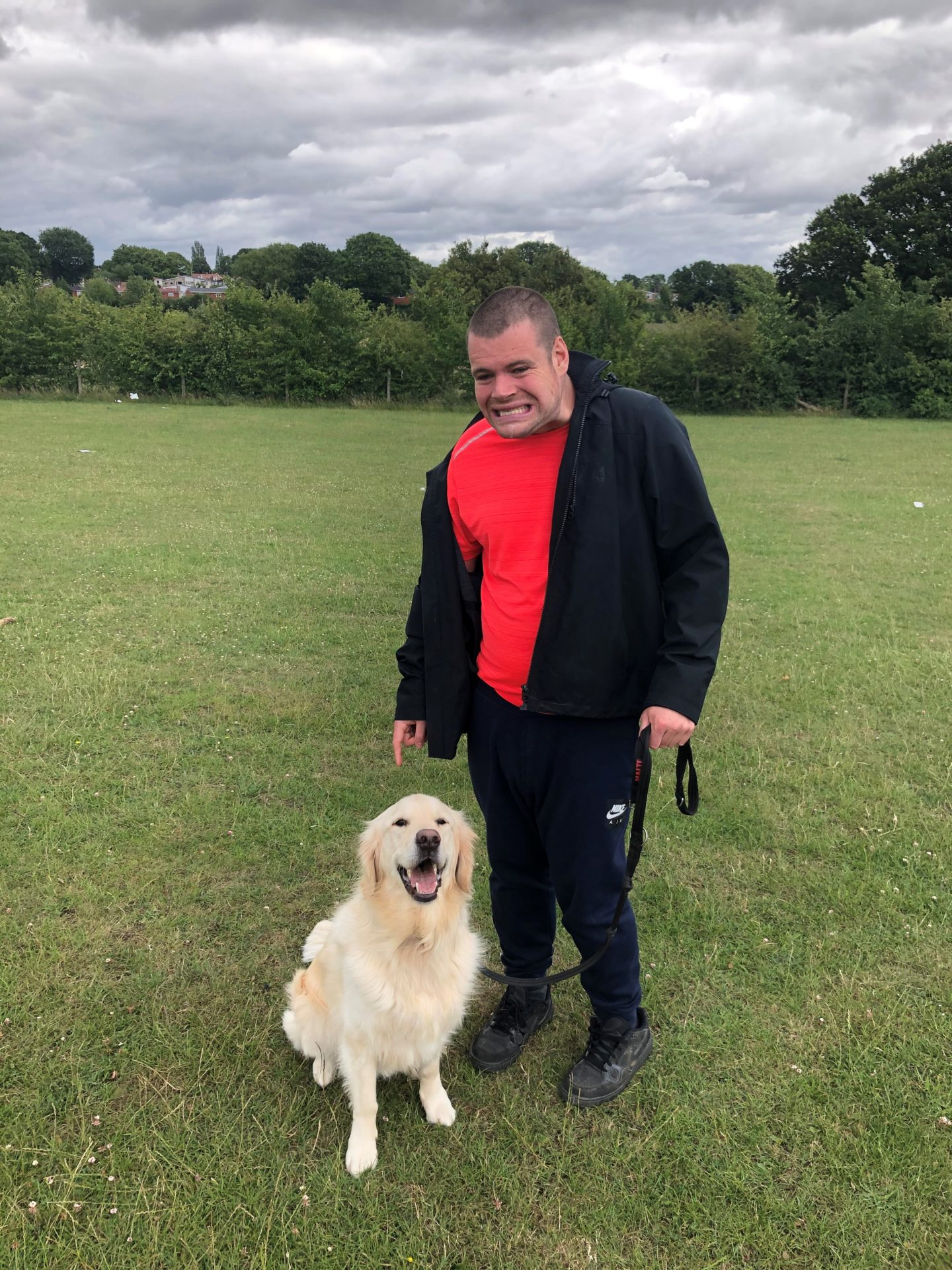 Enjoying dog walks at Partners In Support